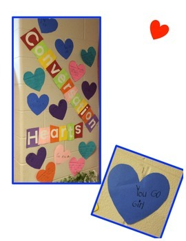 Conversation Hearts Art, Writing, and Math Activity