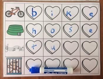 Conversation Hearts - CVCe words