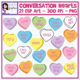 Conversation Hearts Clip Art Set Valentine's Day February