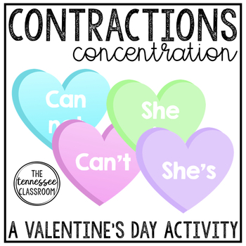 Valentine's Day Contractions Activity