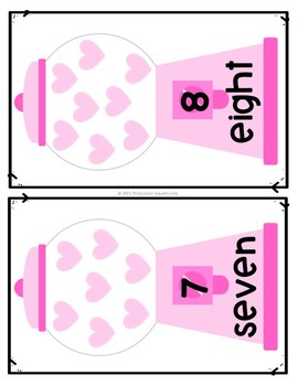 Valentine's Day Count and Clip cards - Counting Mats