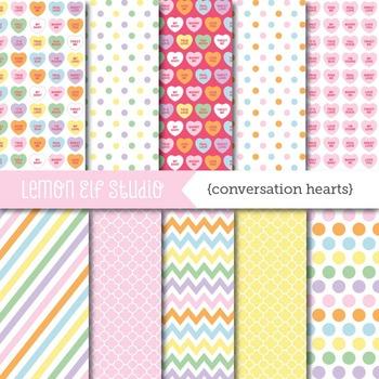 Conversation Hearts-Digital Paper (LES.DP22)