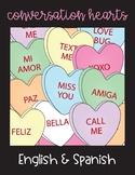Conversation Hearts English and Spanish