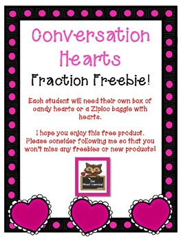 Conversation Hearts Fraction Freebie!