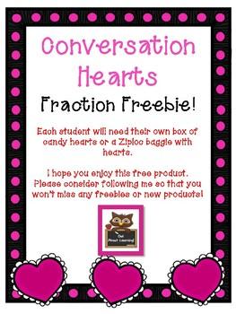 Conversation Hearts Fraction Freebie!