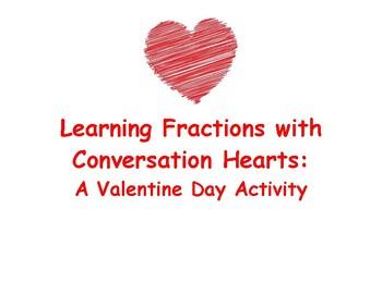 Conversation Hearts - Fractions