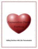 Conversation Hearts Fractions-Adding Like Denominators
