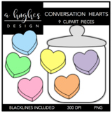Conversation Hearts Clipart {A Hughes Design}