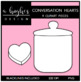 Conversation Hearts Clipart {A Hughes Design}