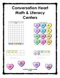 Conversation Hearts Math & Literacy Centers