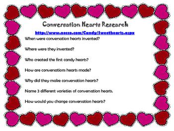 Conversation Hearts STEM activities
