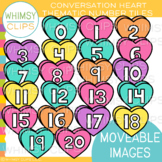 Conversation Hearts Number Tiles {MOVEABLE IMAGES}