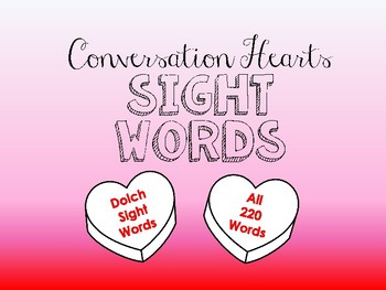Conversation Hearts Sight Words