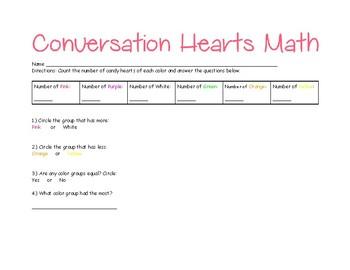 Conversation Hearts Sorting Math