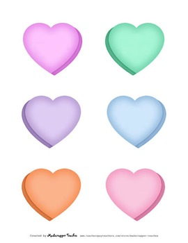Conversation Hearts Valentine's Day Digital Clipart Color