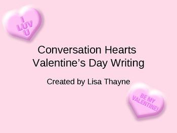 Conversation Hearts Valentine's Writing