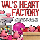 2nd & 3rd Grade Data and Graphing Math Project | A Valentine-Themed Simulation