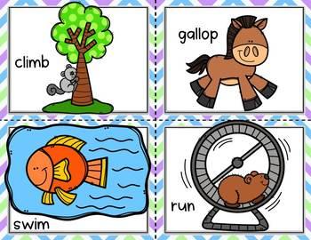 Conversation Kit: Animal Movements {ESL} (Kindergarten Wonders Unit 1 Week 2)