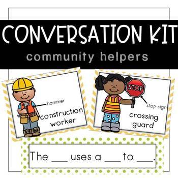 Conversation Kit: Community Helpers {ESL} (Kindergarten Wonders Unit 4  Week 1)
