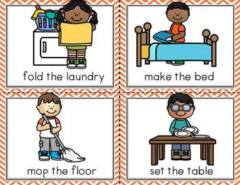 Conversation Kit: Help at Home {ESL} (Kindergarten Wonders Unit 9 Week 1)
