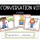 Conversation Kit: Rules {ESL} (Kindergarten Wonders Unit 3