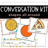 Conversation Kit: Shapes {ESL} (Kindergarten Wonders Unit 2 Week 2)