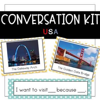 Conversation Kit: USA {ESL} (Kindergarten Wonders Unit 8 Week 2)
