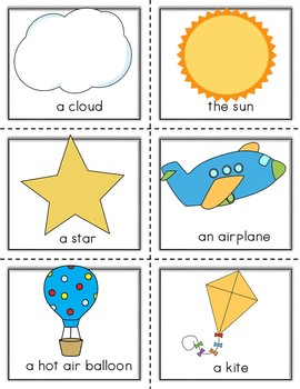 Conversation Kit: Up in the Sky {ESL} (Kindergarten Wonders Unit 8 Week 3)