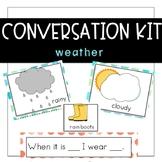 Conversation Kit: Weather {ESL} (Kindergarten Wonders Unit 6 Week 2)