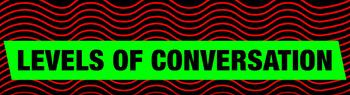 Conversation Levels Poster - tabloid size