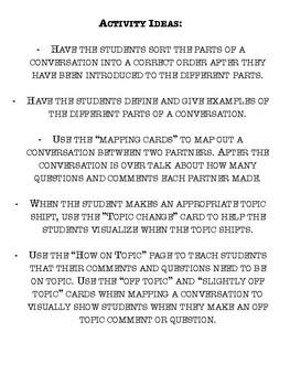 Conversation Mapping Cards - Teach Conversation Skills - Pragmatics