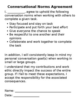 Conversation Norms Agreement