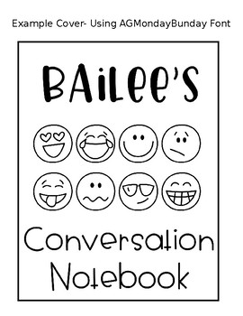 Conversation Notebooks Cover Page (Editable)
