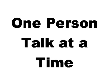 Conversation - One Person Talk at a Time