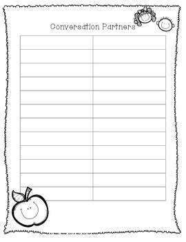 Conversation Partner Organizer