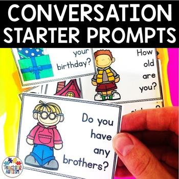 Conversation Prompt Task Cards Social Skills