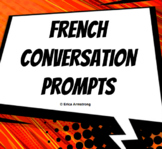 Conversation Prompts / Sentence Starter Posters for Core French/Immersion