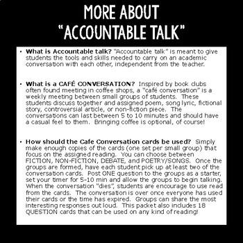 Accountable Talk:   for Middle School and High School