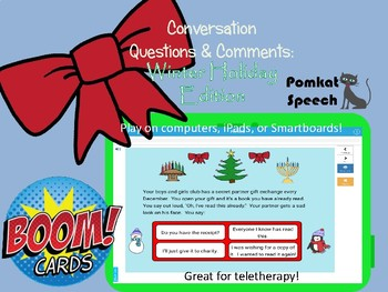 Conversation Questions & Comments: Winter Holiday Edition Boom™ Cards