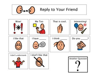 Conversation, Reply To Friends - Autism Visual
