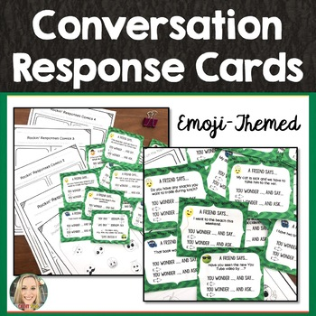 Conversation Response Cards, Maintaining Conversation, Social Skills, Friendship
