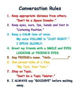 Conversation Rules / Checklist