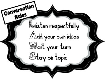 Conversation Rules for Speaking and Listening- Common Core