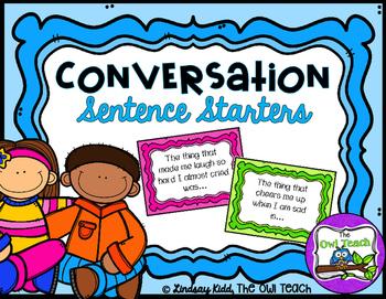 Social Skills Activities:  {Conversation Starter Task Cards}