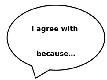 Conversation Sentence Starters Speech Bubbles