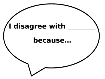 Conversation Sentence Starters Speech Bubbles