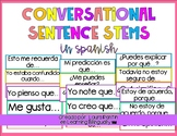 Conversation Sentence Stems in Spanish