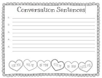 Conversation Heart Sentences