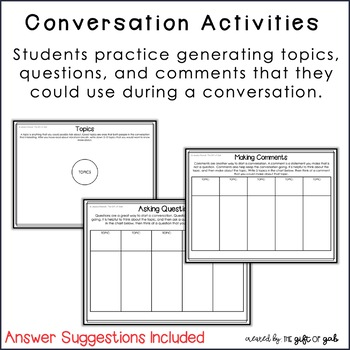 Conversation Skills for Autism and Speech Therapy