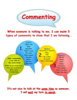 Conversation Skills: Commenting Visual Aid